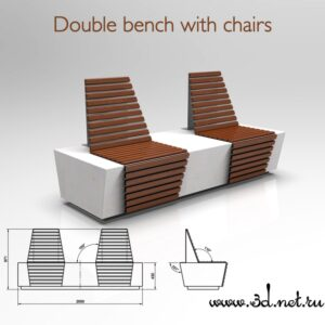 3d image of Double bench with chairs00005 300x300 - Главная страница