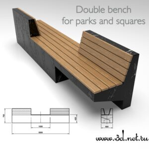 Double bench for parks and squares 00001 300x300 - Главная страница